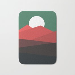 Abstract and geometric landscape 11 Bath Mat