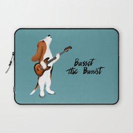 Basset the Bassist (Blue-Gray) Laptop Sleeve