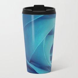 Cyan Rose Travel Mug