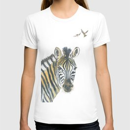 Zebra and Birds T-shirt