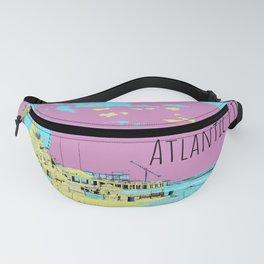 Atlantic City Digital Paint on Photo Fanny Pack