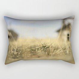"""Lo-Fi""  / Old Barn Buildings Rectangular Pillow"