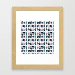 Gems Pattern Framed Art Print