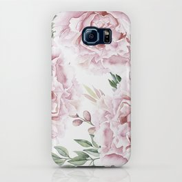 Coral Watercolor Roses iPhone Case