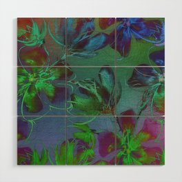 Jewel Toned Flowers Wood Wall Art