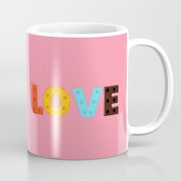 happy LOVE - typography Coffee Mug