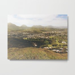 Kailua Hawaii Landscape View Metal Print