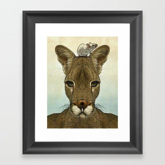 Roo and Tiny Framed Art Print