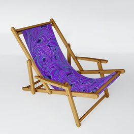 paisley paisley purple Sling Chair
