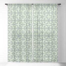 Nordic Soft Green - Scandinavian Cross Minimalism Sheer Curtain