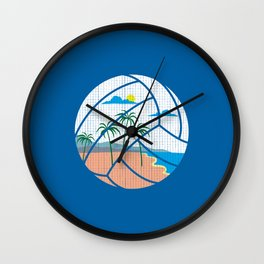 Beach Volleyball Wall Clock