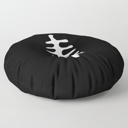 leaf in the style of Matisse 4 Black and white Floor Pillow
