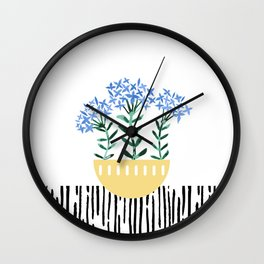 Potted Plant 5 Wall Clock