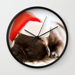 Christmas dog Wall Clock