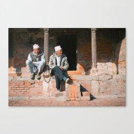 Bhaktapur Men Canvas Print