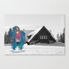 Unseen Monsters of Mount Shasta - Tooschtick Huntsie Canvas Print