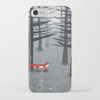 woods iPhone & iPod Cases featuring The Fox and the Forest by Nic Squirrell