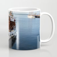 oslo Mugs featuring Classic Boats In Oslo by Malcolm Snook