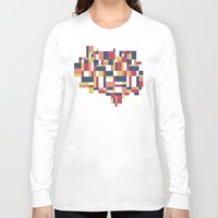 matisse Long Sleeve T-shirts featuring Map Matisse #1 by Project M