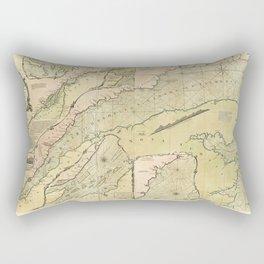Map of the Saint Lawrence River (1771) Rectangular Pillow
