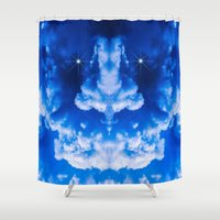 demon Shower Curtains featuring Thunderstorm Demon by digital2real