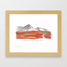 Mountain Landscape Contemporary Art, Mountain drawing, Modern Art, nature , Abstract Art, Mountains Framed Art Print