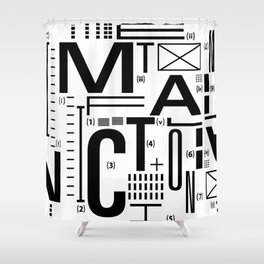 METAL FICTION Shower Curtain
