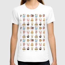 kitties & food white T-shirt