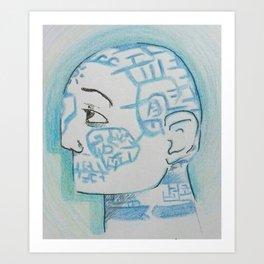 Labyrinth Man Art Print