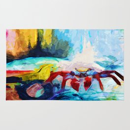 Red Crab Rug