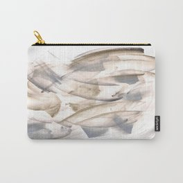 180630 Grey Black Brown Abstract Watercolour Neutral 23 | Watercolor Brush Strokes Carry-All Pouch