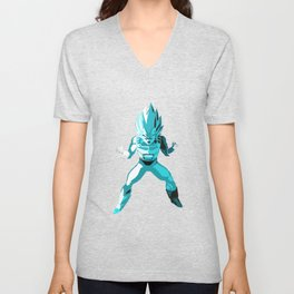 God Vegeta super saiyan ultimate form  ultra instinct Unisex V-Neck