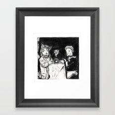 séance Framed Art Print