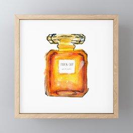 Fuck Off Perfume Framed Mini Art Print