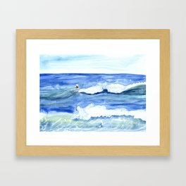 """""""Surfing"""" Watercolor on yupo paper Framed Art Print"""