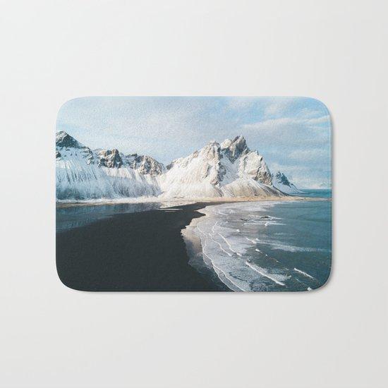 Iceland Mountain Beach - Landscape Photography Bath Mat