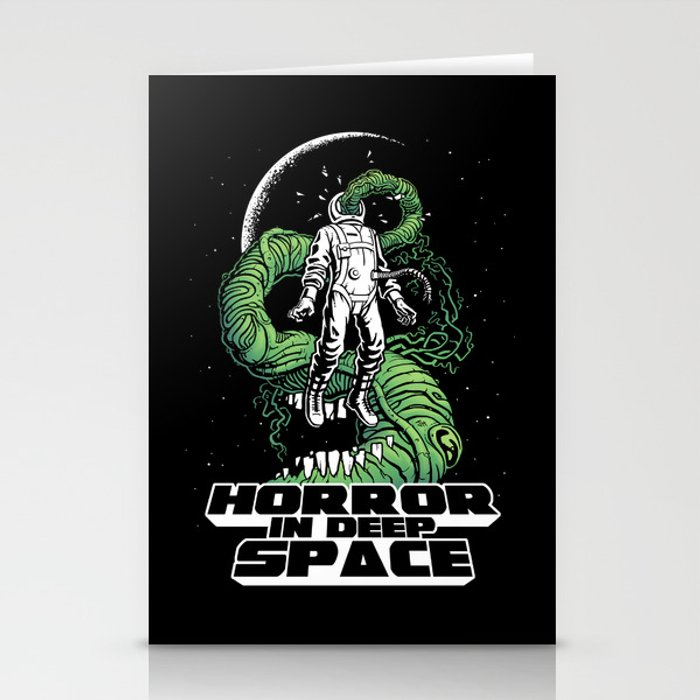 Horror In Deep Space Stationery Cards