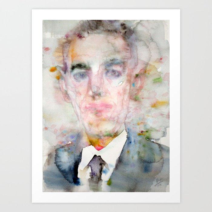 H  P  LOVECRAFT - watercolor portrait Art Print