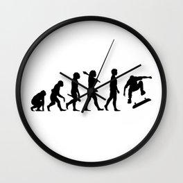 Evolution of the Skateboarder Wall Clock