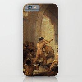 Francisco de Goya - The Madhouse iPhone Case