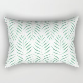 Palm trees in acqua and white Rectangular Pillow