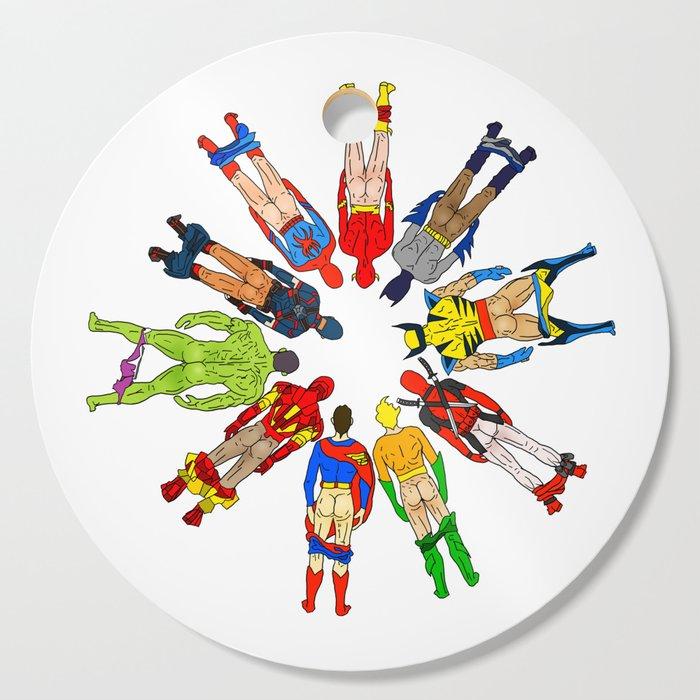 Superhero Butts Cutting Board