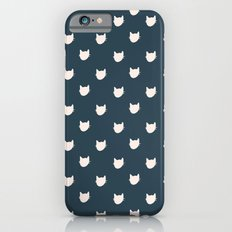 Navy Cats Pattern iPhone 6s Slim Case