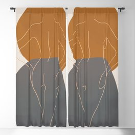 Line Female Figure 82 Blackout Curtain