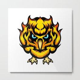 Fire Owl Metal Print