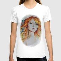 jennifer lawrence T-shirts featuring Jennifer Lawrence Watercolor (Light) by Halinka H