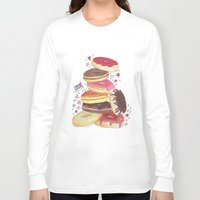 donuts Long Sleeve T-shirts featuring DONUTS by TOO MANY GRAPHIX