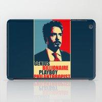 robert downey jr iPad Cases featuring Robert Downey Jr - The Legend by Mental Activity