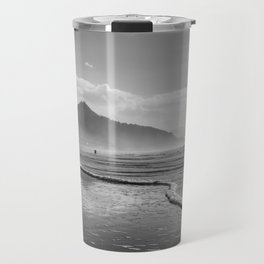 Beautiful Black and White Landscape at Cannon Beach Travel Mug