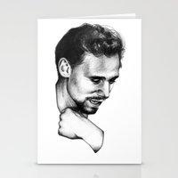 tom hiddleston Stationery Cards featuring Tom Hiddleston by aleksandraylisk